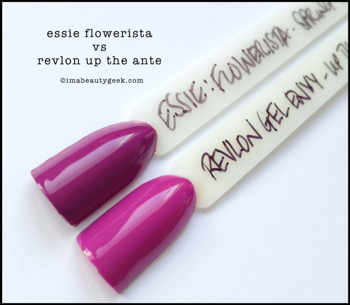 Essie Flowerista Comparison Revlon Up The Ante