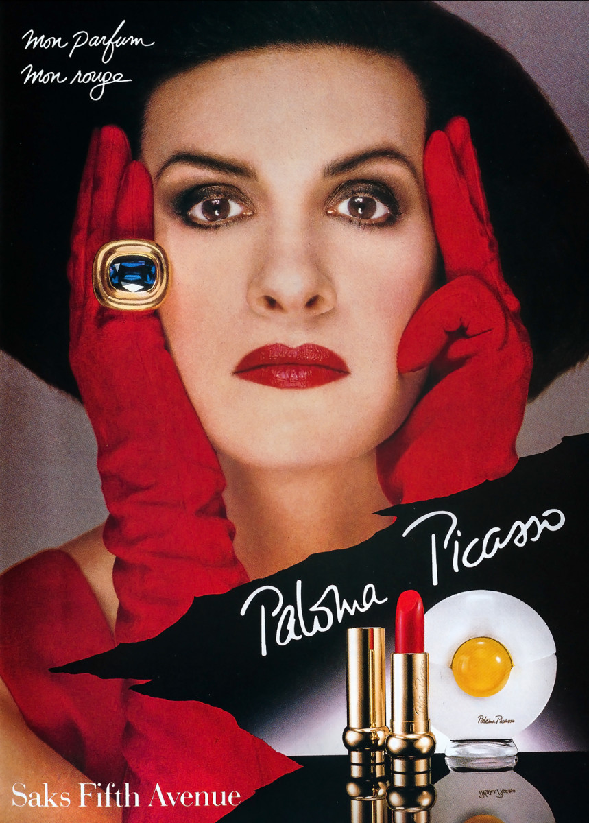 Paloma Picasso fragrance and signature red lipstick she hoards_I'm not hoarding I'm stocking up