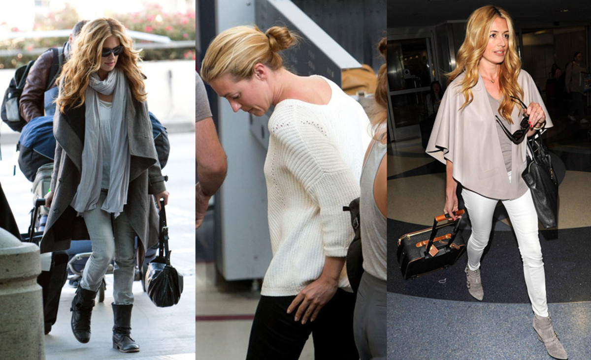 Cat Deeley at the airport again and again