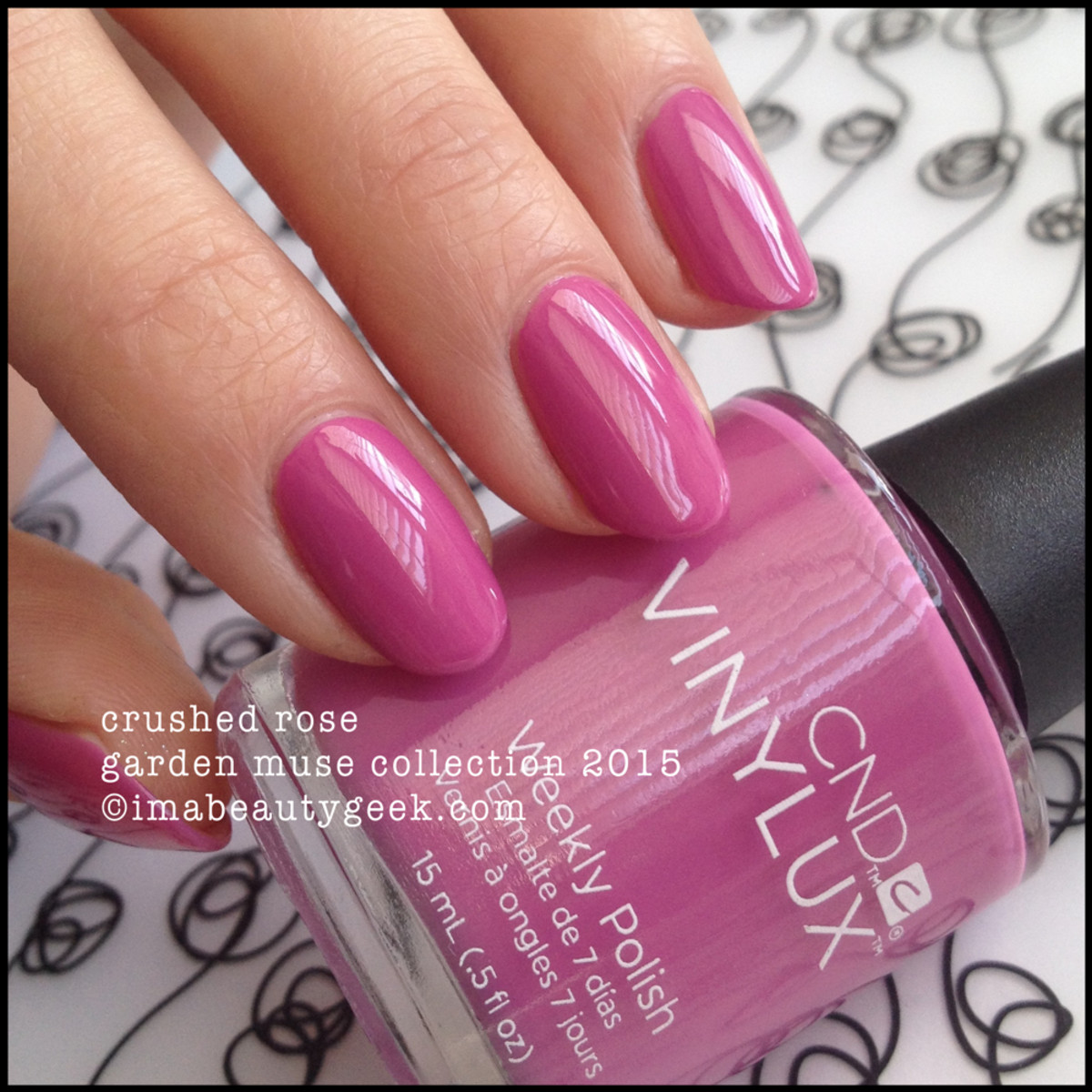 CND Vinylux Crushed Rose_Garden Muse Collection 2015
