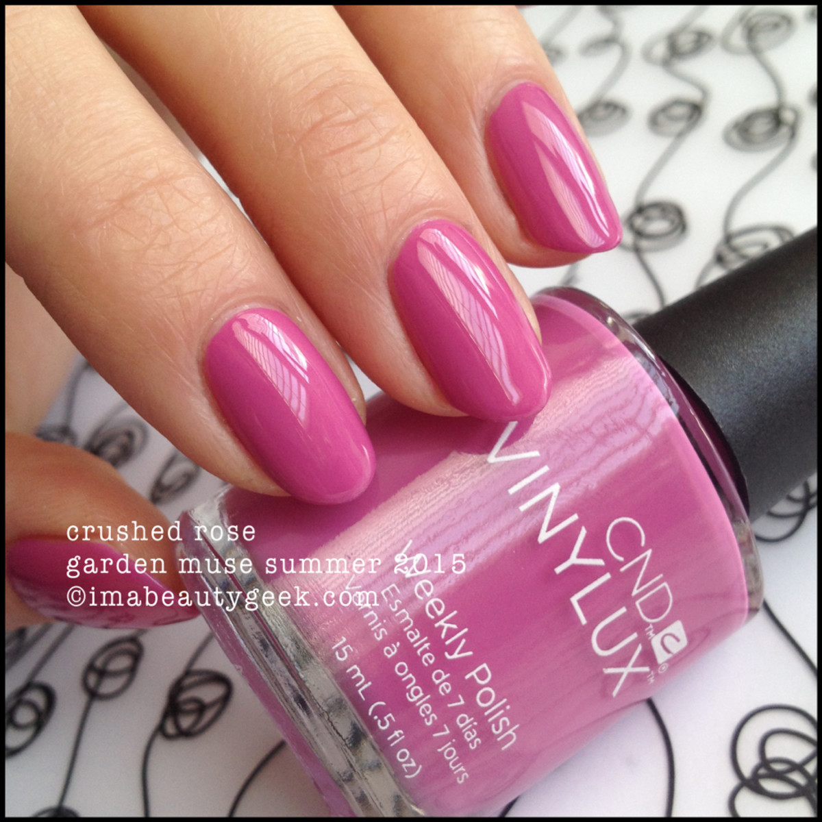 CND Vinylux Garden Muse Crushed Rose 2015