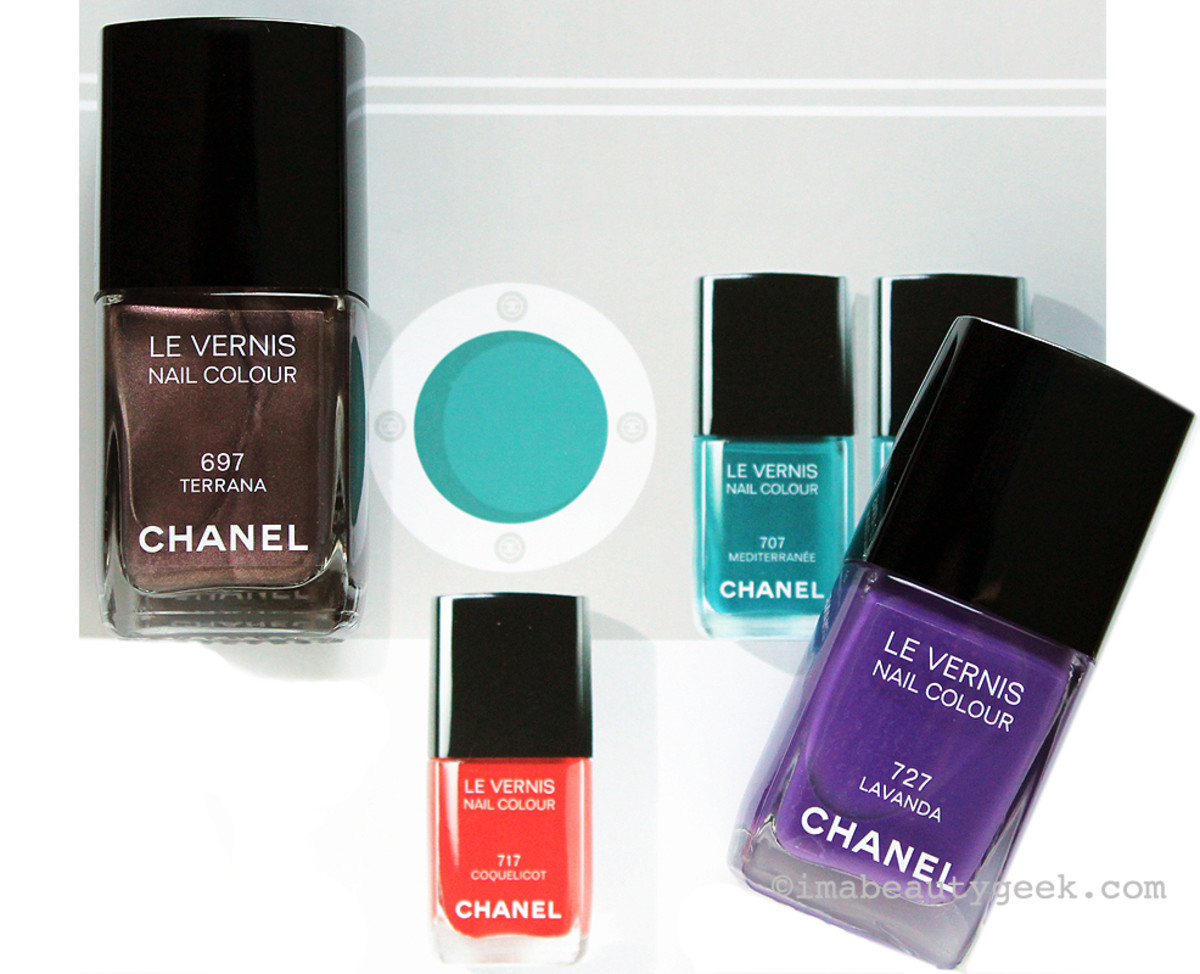 Chanel Summer 2015 Mediterranee Le Vernis nail polish in Terrana and Lavanda