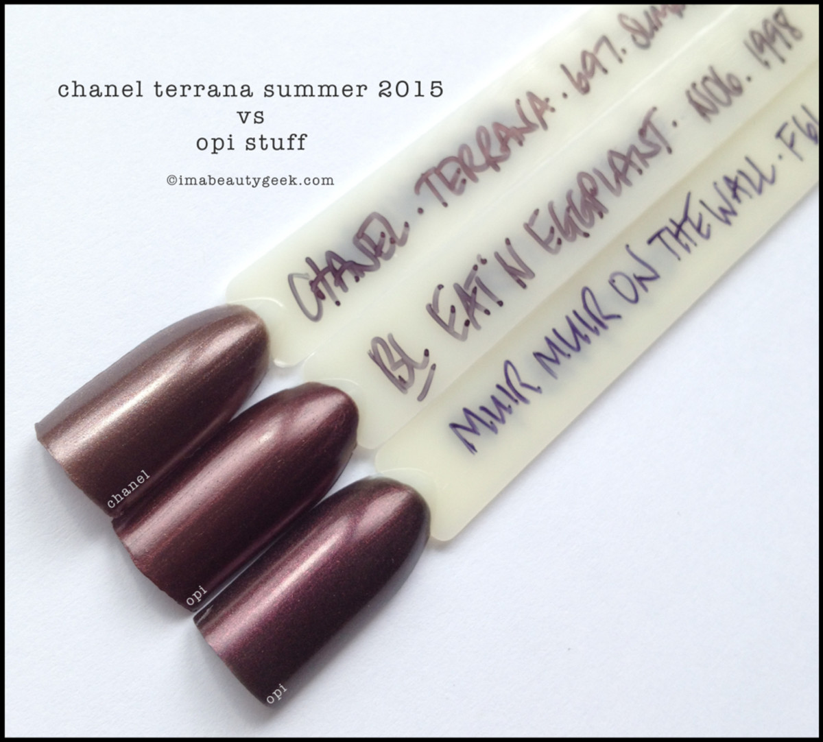 Chanel Terrana Comparison Swatch vs OPI