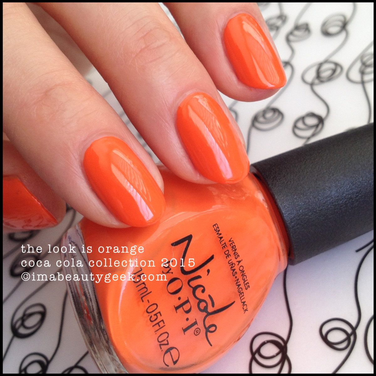 Nicole by OPI The Look is Orange Coca Cola Collection 2015 Beautygeeks