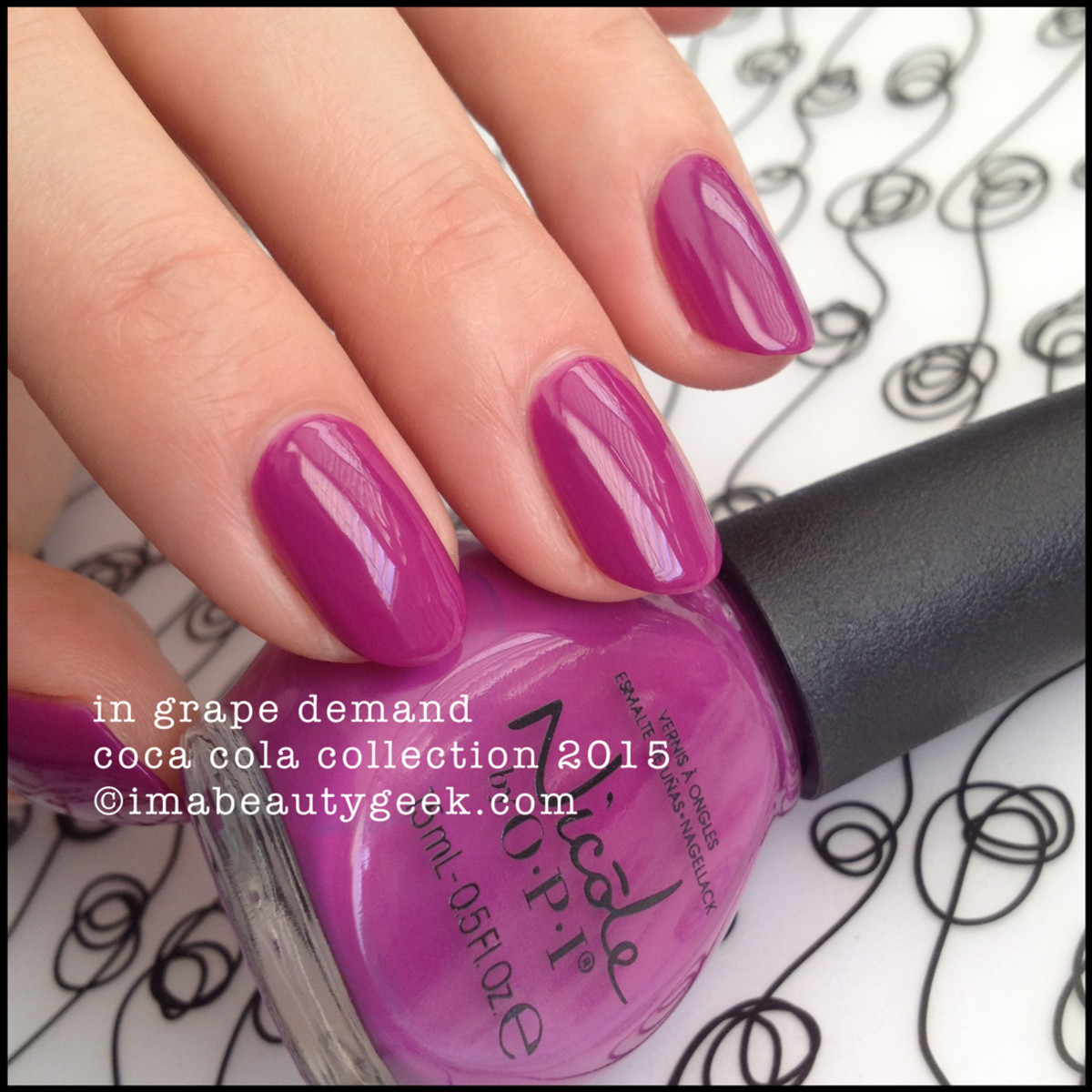 Nicole by OPI In Grape Demand Coca Cola Collection 2015 Beautygeeks