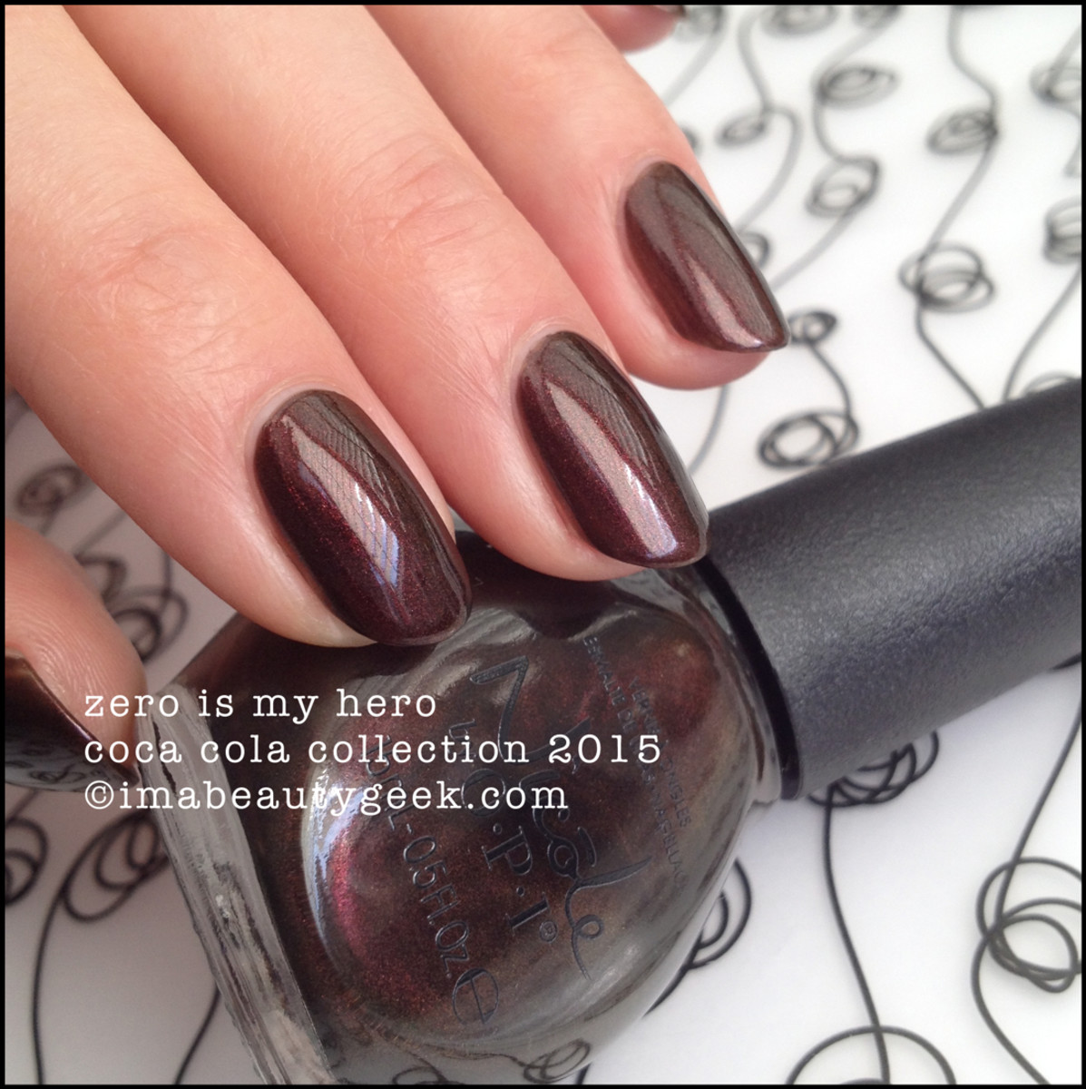 Nicole by OPI Coca Cola Collection 2015 Zero is My Hero