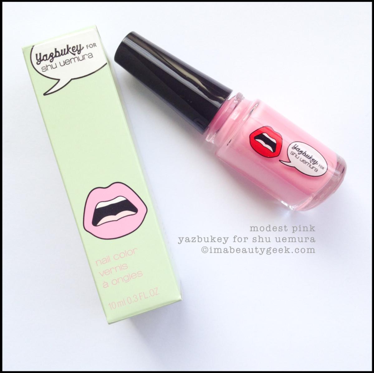 Yazbukey for Shu Uemura Nail Polish Modest Pink Swatch 2015
