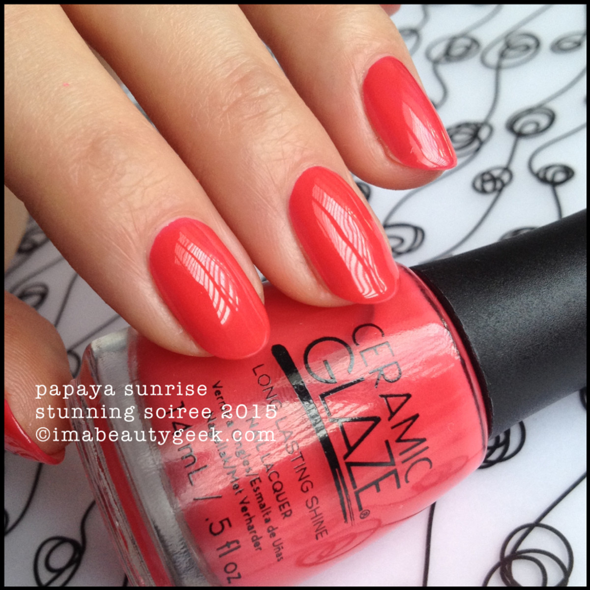 Ceramic Glaze Polish Papaya Sunrise Swatch Stunning Soiree 2015