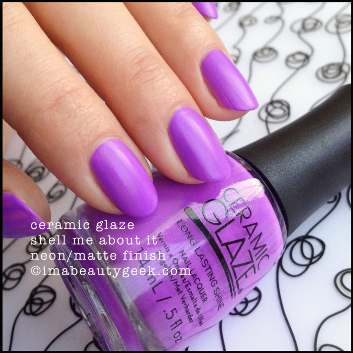 Ceramic Glaze Shell Me About It Neon Matte Polish