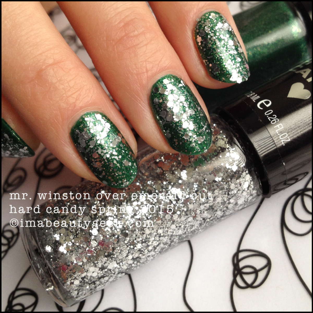 Hard Candy Nail Mr Winston over Hard Candy Emerald Cut