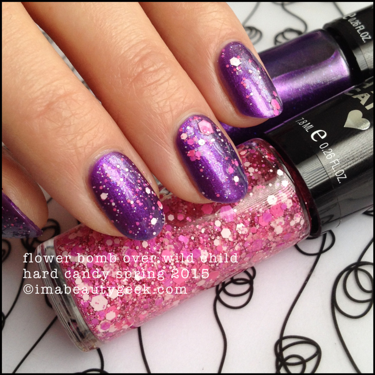 Hard Candy Nail Flower Bomb over Wild Child Spring 2015