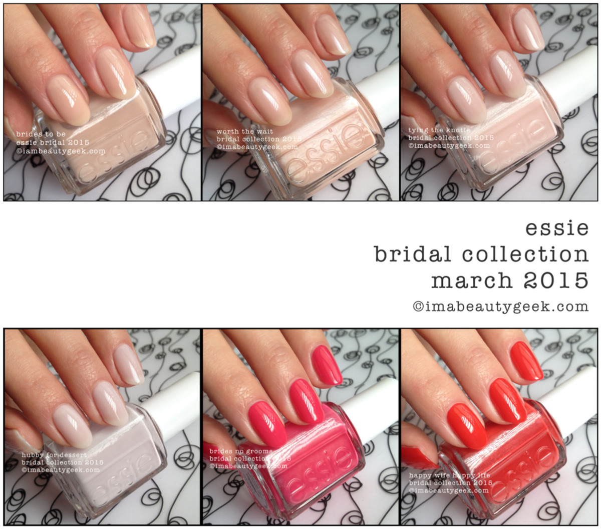 Essie Bridal 2015 Collection Swatches Beautygeeks Composite