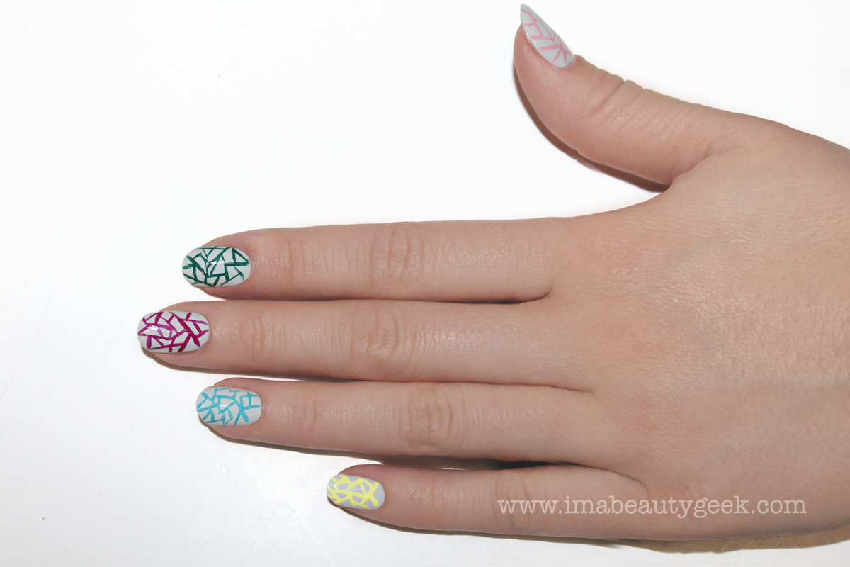 JINsoon Egg Shells manicure nail art step 7