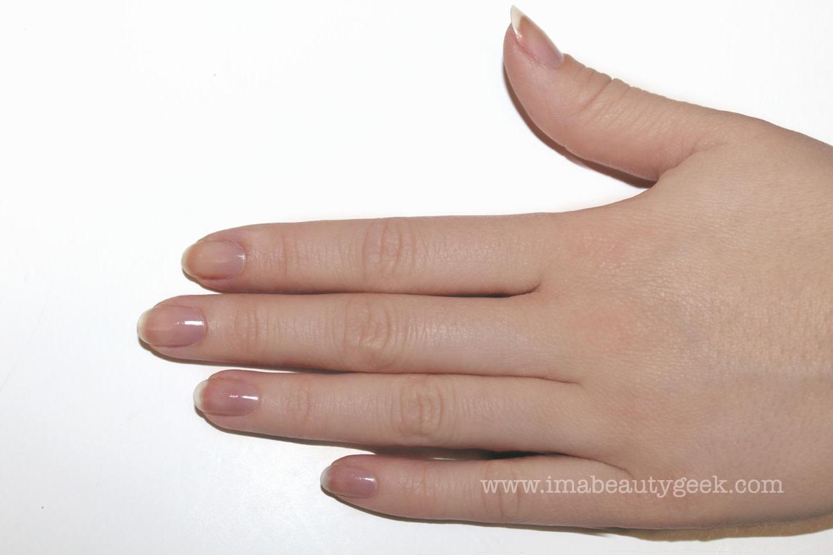 JINsoon egg shells manicure nail art step 1