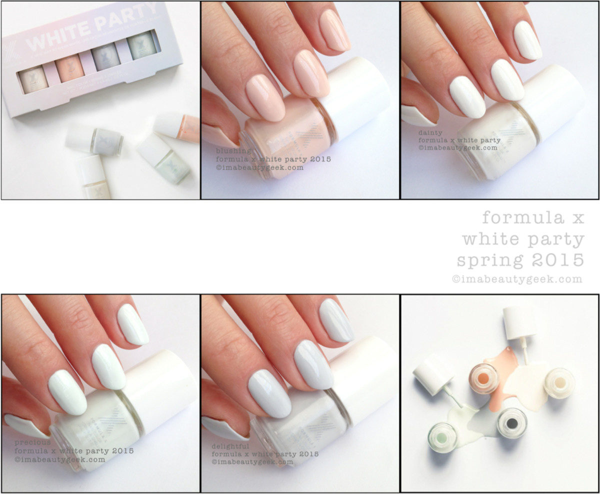 Formula X White Party Swatches and Review