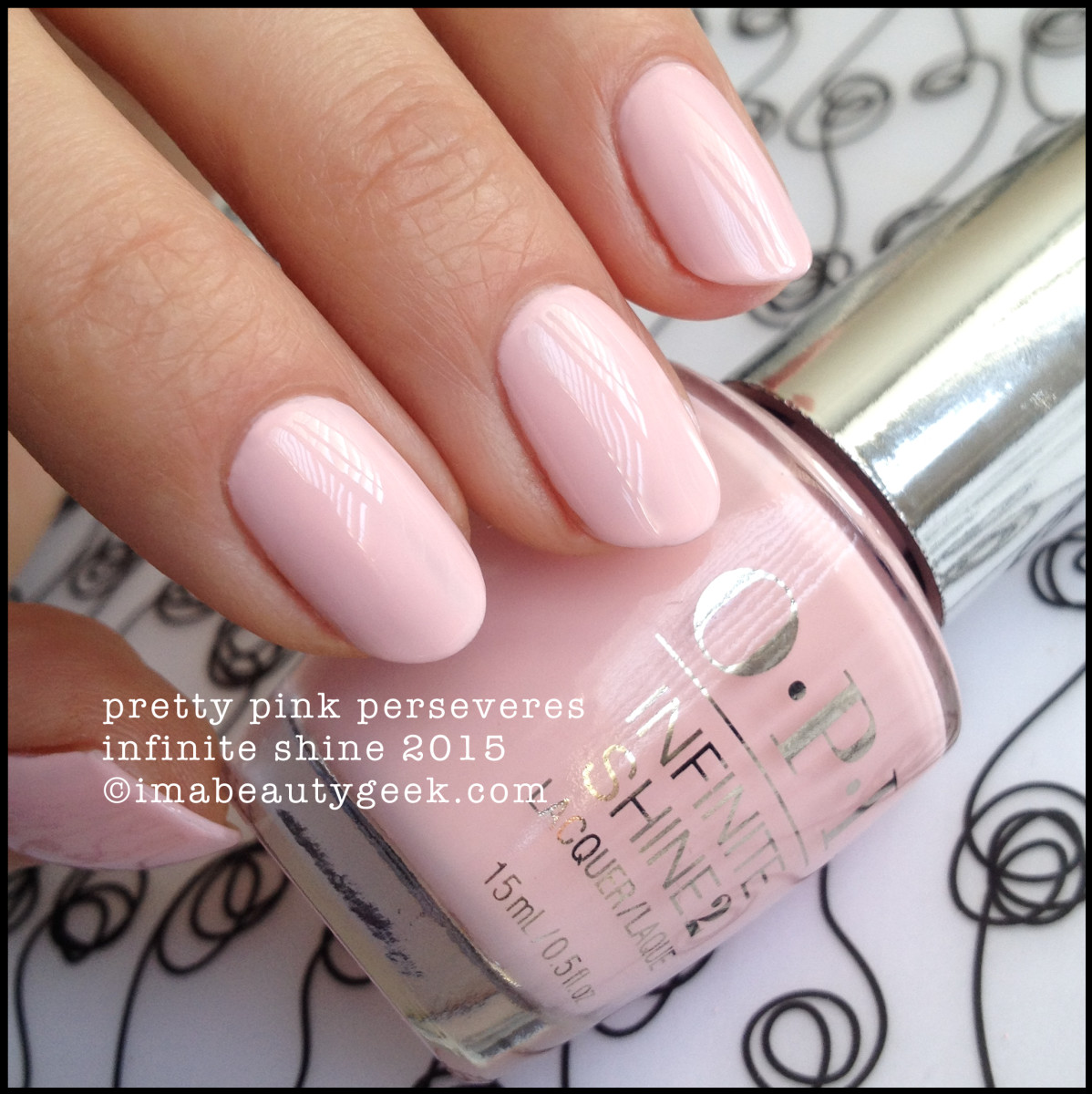 OPI Infinite Shine Pretty Pink Perseveres
