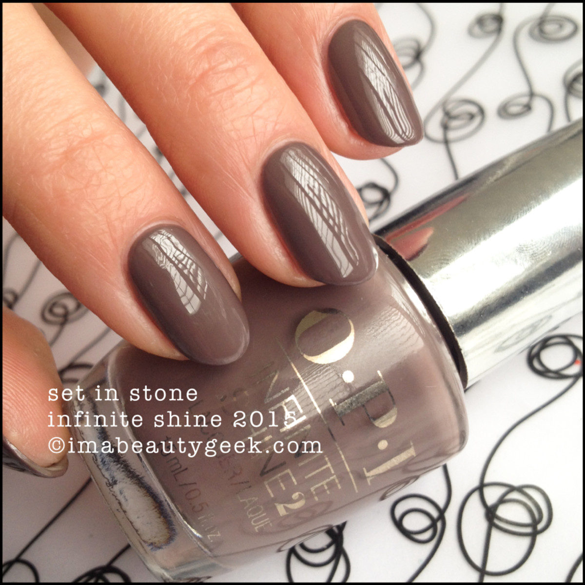 OPI Infinite Shine Set in Stone Swatch 2015 Beautygeeks