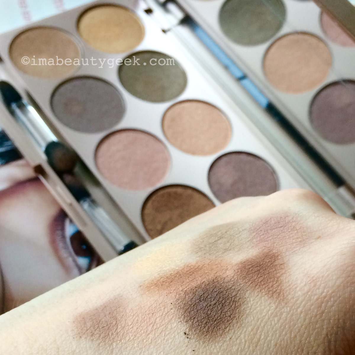Lise Watier Palette Rivages eyeshadow palette swatches