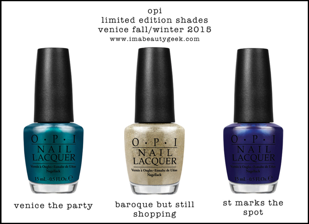 OPI Venice Limited Edition Shades 2015