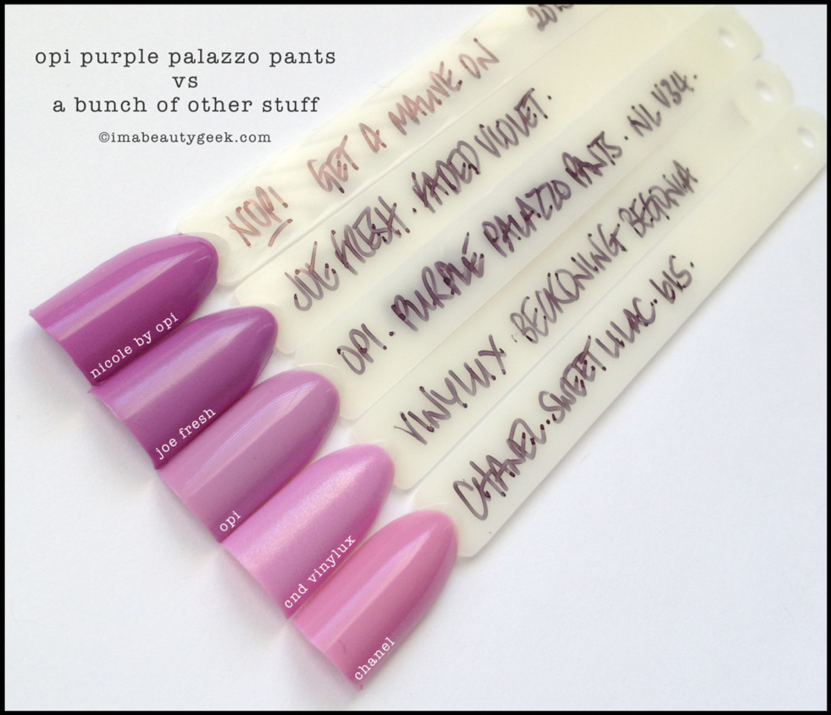 OPI Purple Palazzo Pants Comparison Swatches OPI Venice 2015