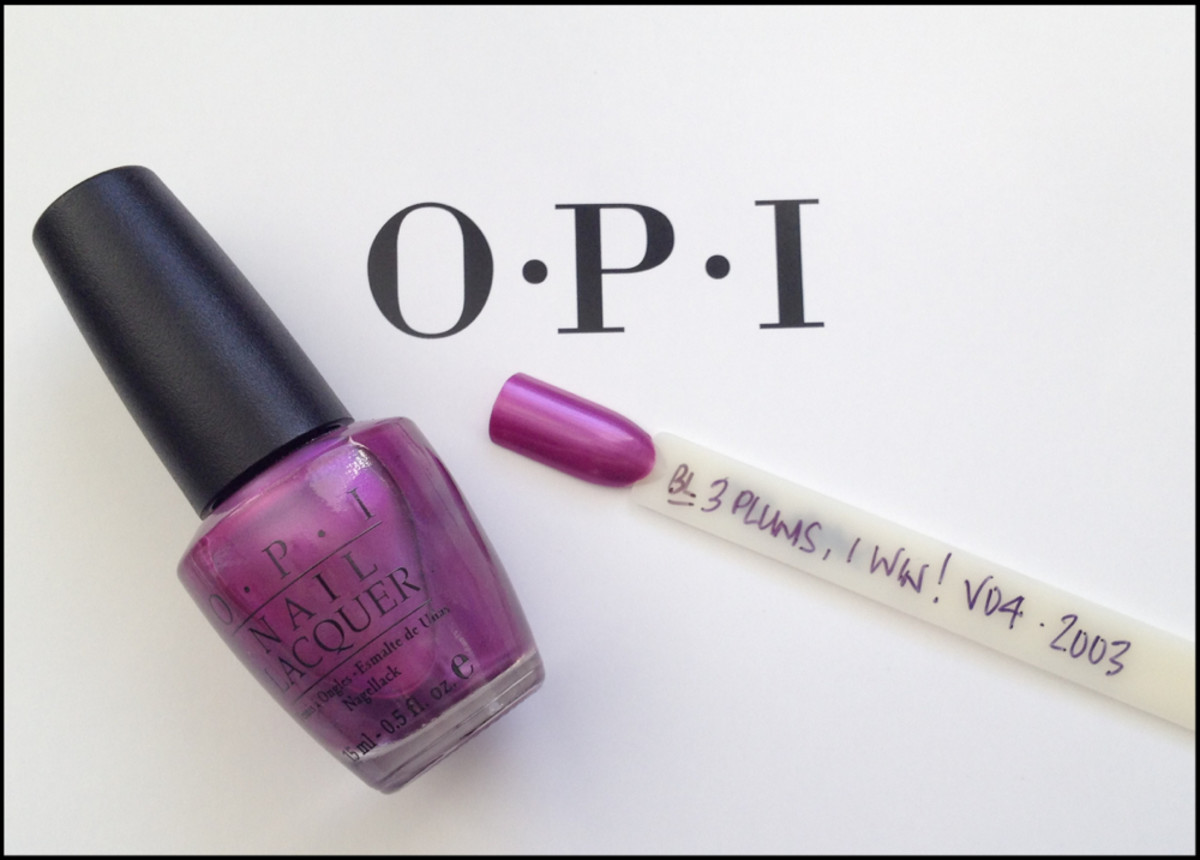 OPI 3 Plums I Win Black Label OPI Beautygeeks