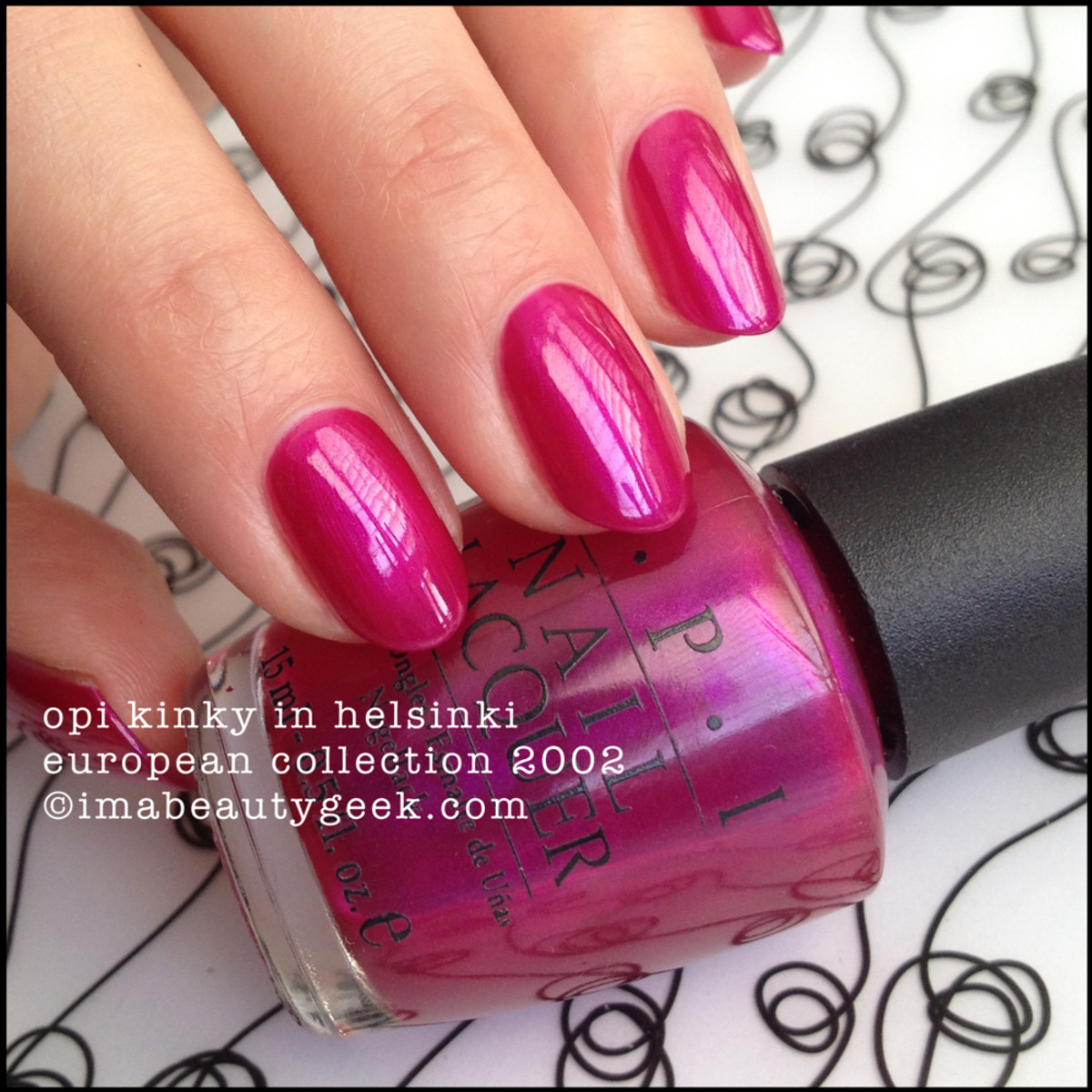 OPI Kinky in Helsinki Black Label European Collection 2002 Beautygeeks_3