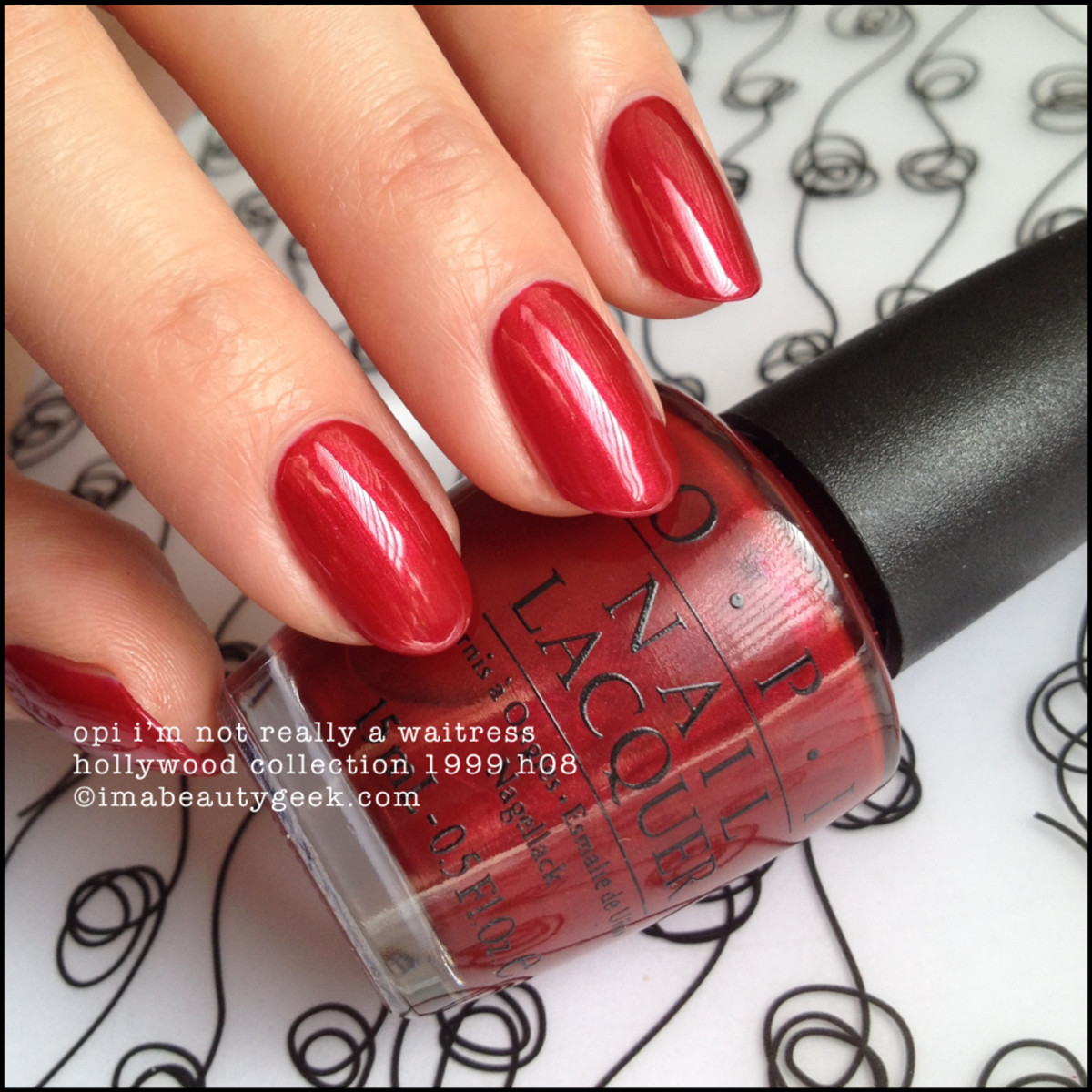 OPI I'm Not Really a Waitress Hollwood Collection 1999 BLOPI Beautygeeks