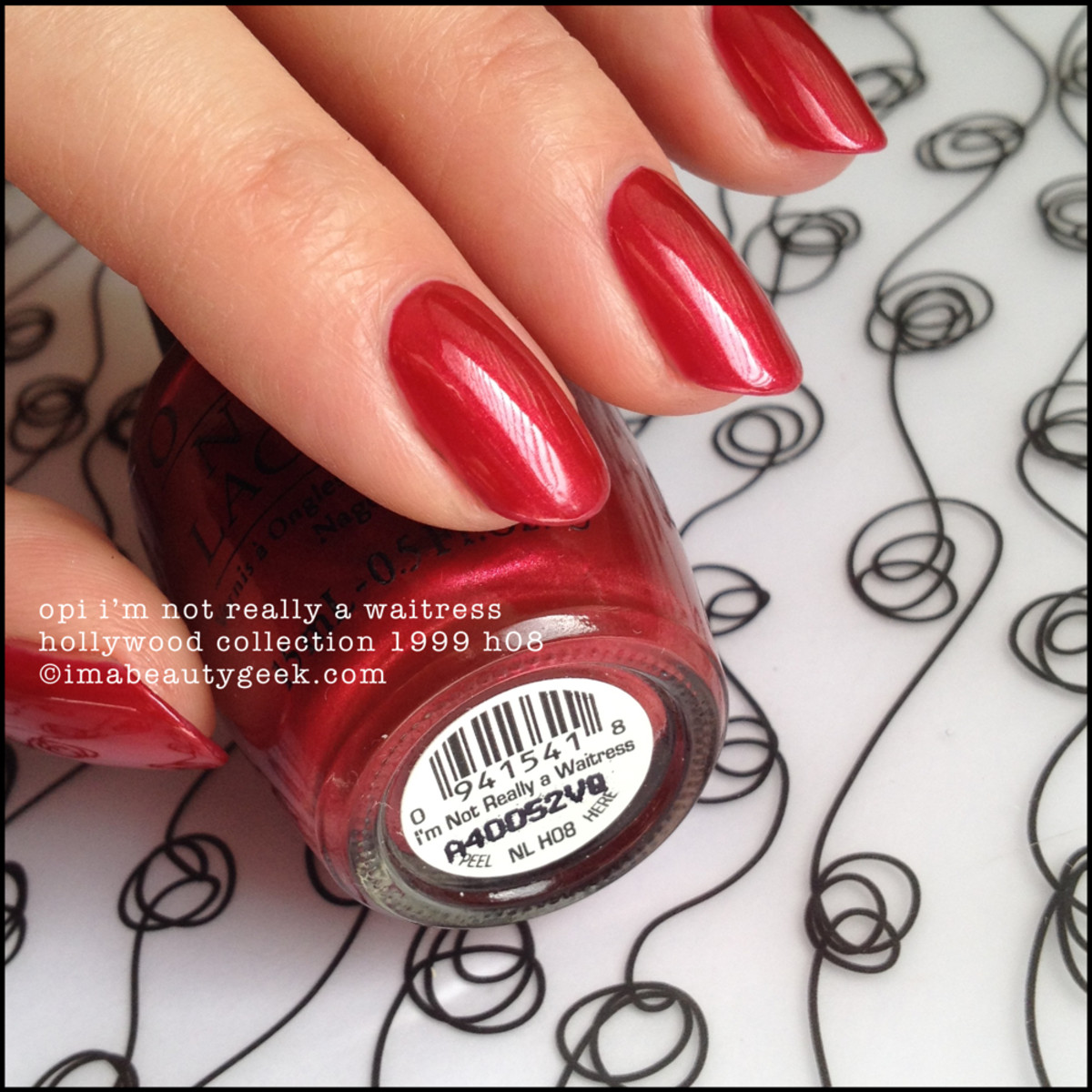Black Label OPI I'm Not Really a Waitress Hollywood Collection 1999 Beautygeeks