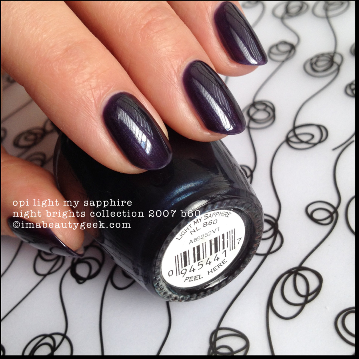 OPI Light My Sapphire OPI Night Brights Collection 2007 Beautygeeks