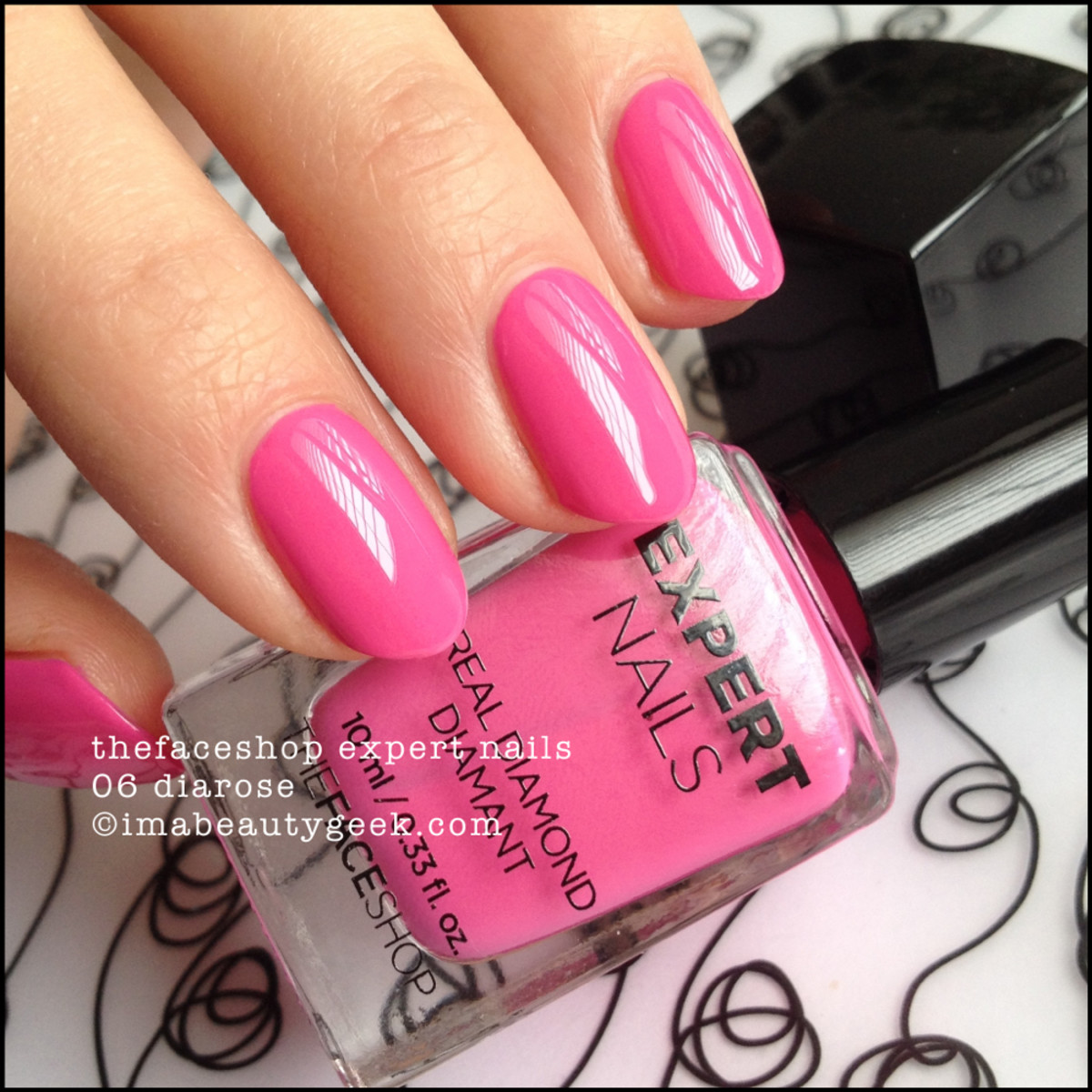 TheFaceShop Expert Nails 06 Diarose Swatch