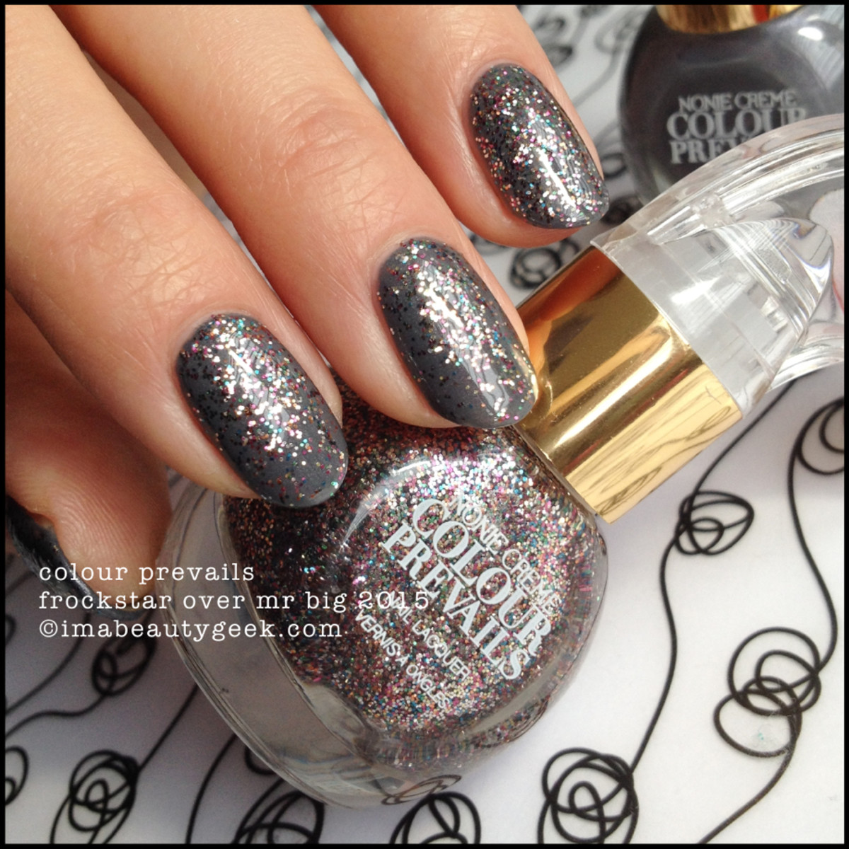 Colour Prevails Frockstar over Mr Big Nail Lacquer by Nonie Creme
