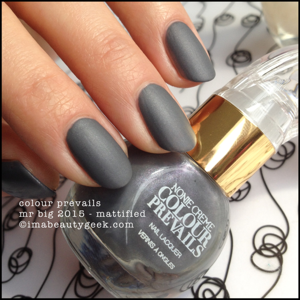 Colour Prevails Mr Big Mattified Nail Lacquer by Nonie Creme