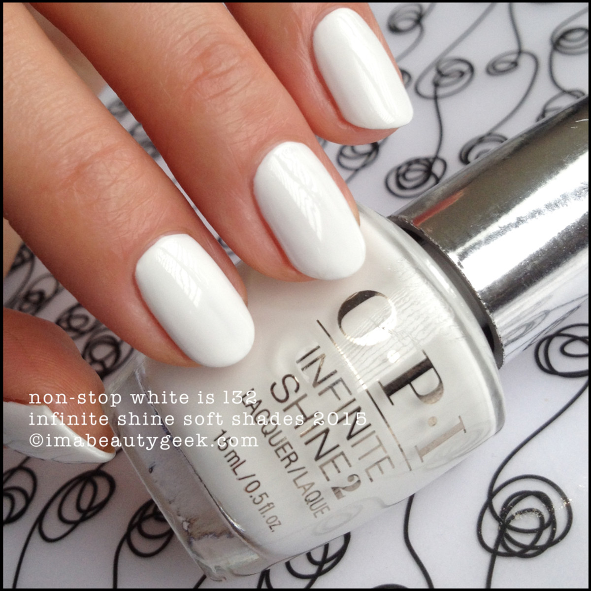 OPI Infinite Shine Non-Stop White OPI IS Soft Shades 2015