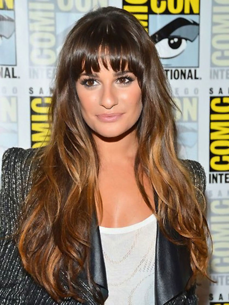 lea michele_you can diy ombre without a kit for this look