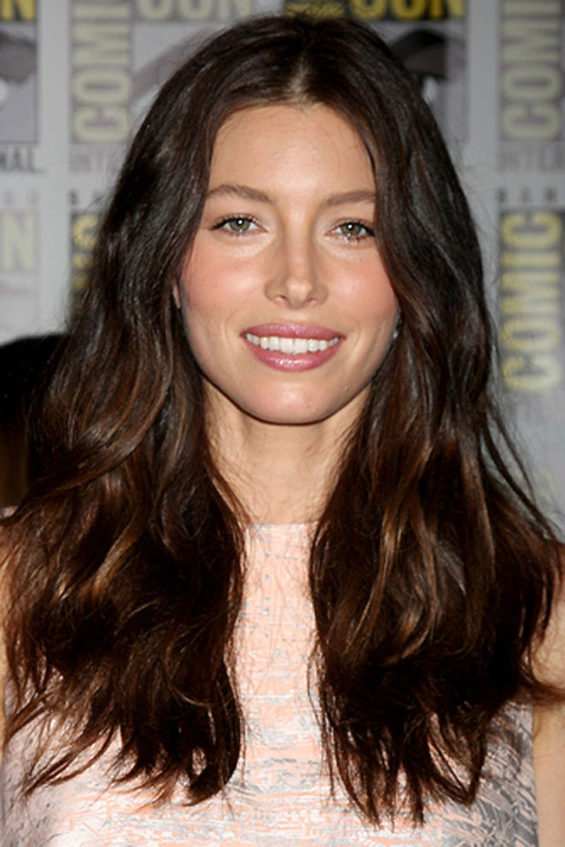 Jessica Biel_you can diy ombre colour treated hair for this effect too