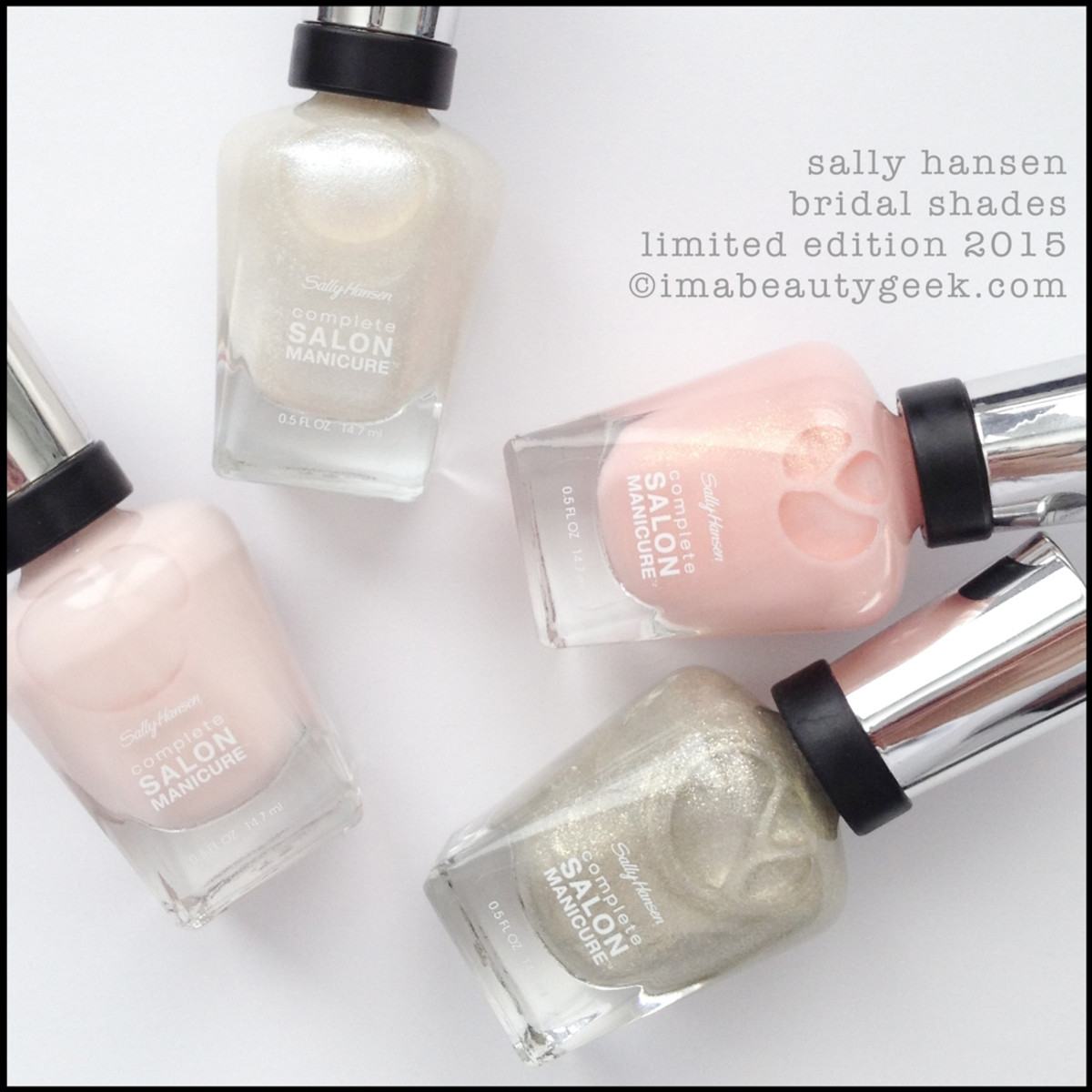 Sally Hansen Bridal Shades Spring 2015-2