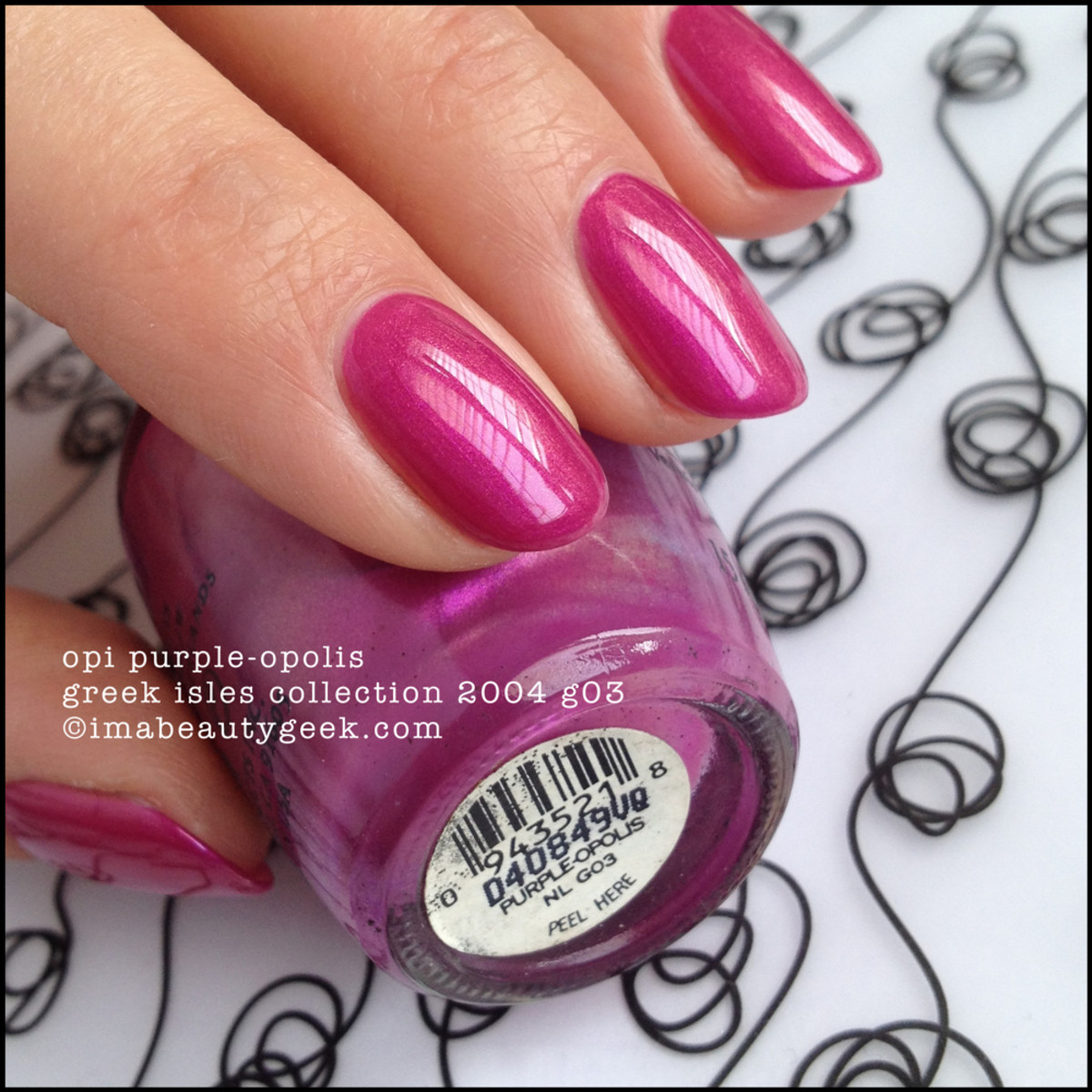 OPI NL G03 Purpleopolis Greek Isles Collection 2004 BLOPI