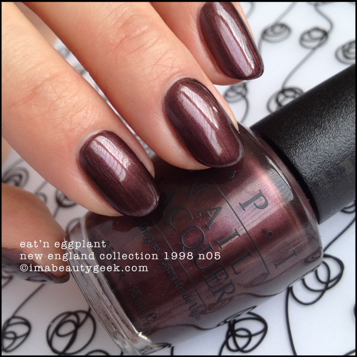 OPI Eatn Eggplant New England Collection 1998 NL N05