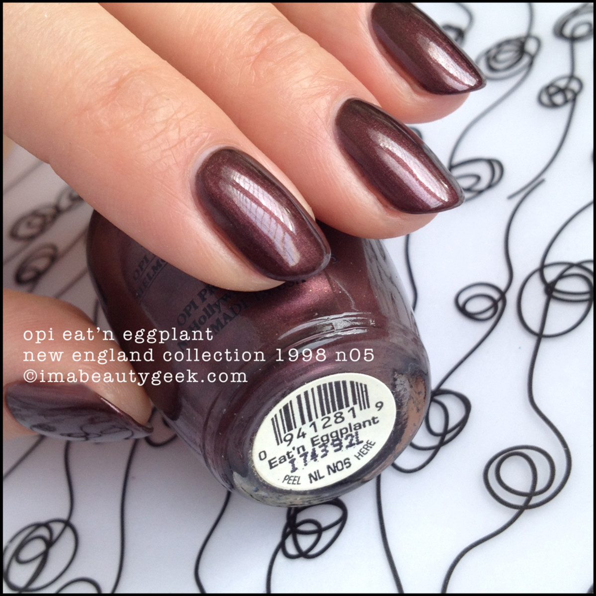 OPI Eat'n Eggplant New England Collection 1998 Black Label OPI
