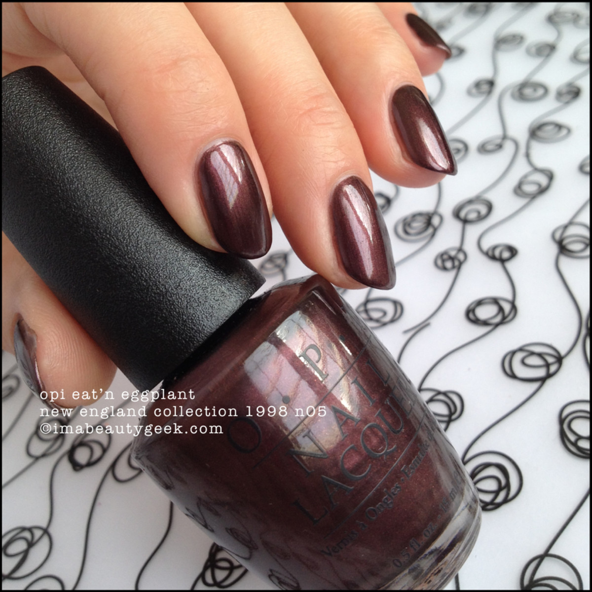 Black Label OPI Eat'n Eggplant New England Collection 1998