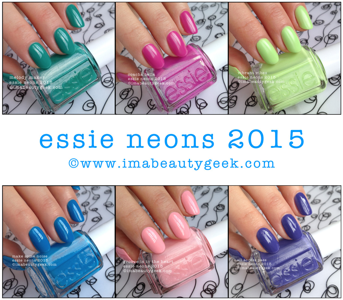 Essie Neon 2015 Collection Beautygeeks Swatch Composite_2