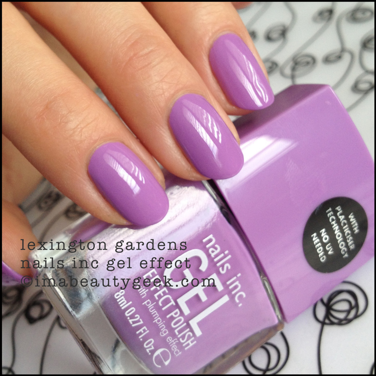 Nails Inc Lexington Gardens Gel Effect Polish Manigeek Swatch