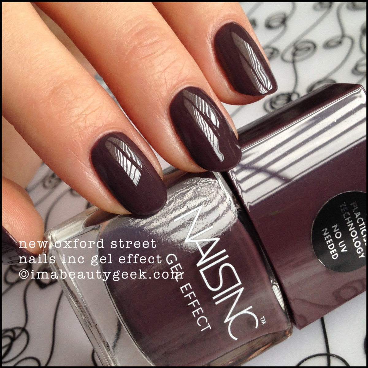 Nails Inc New Oxford Street Gel Effect Polish Manigeek Swatch