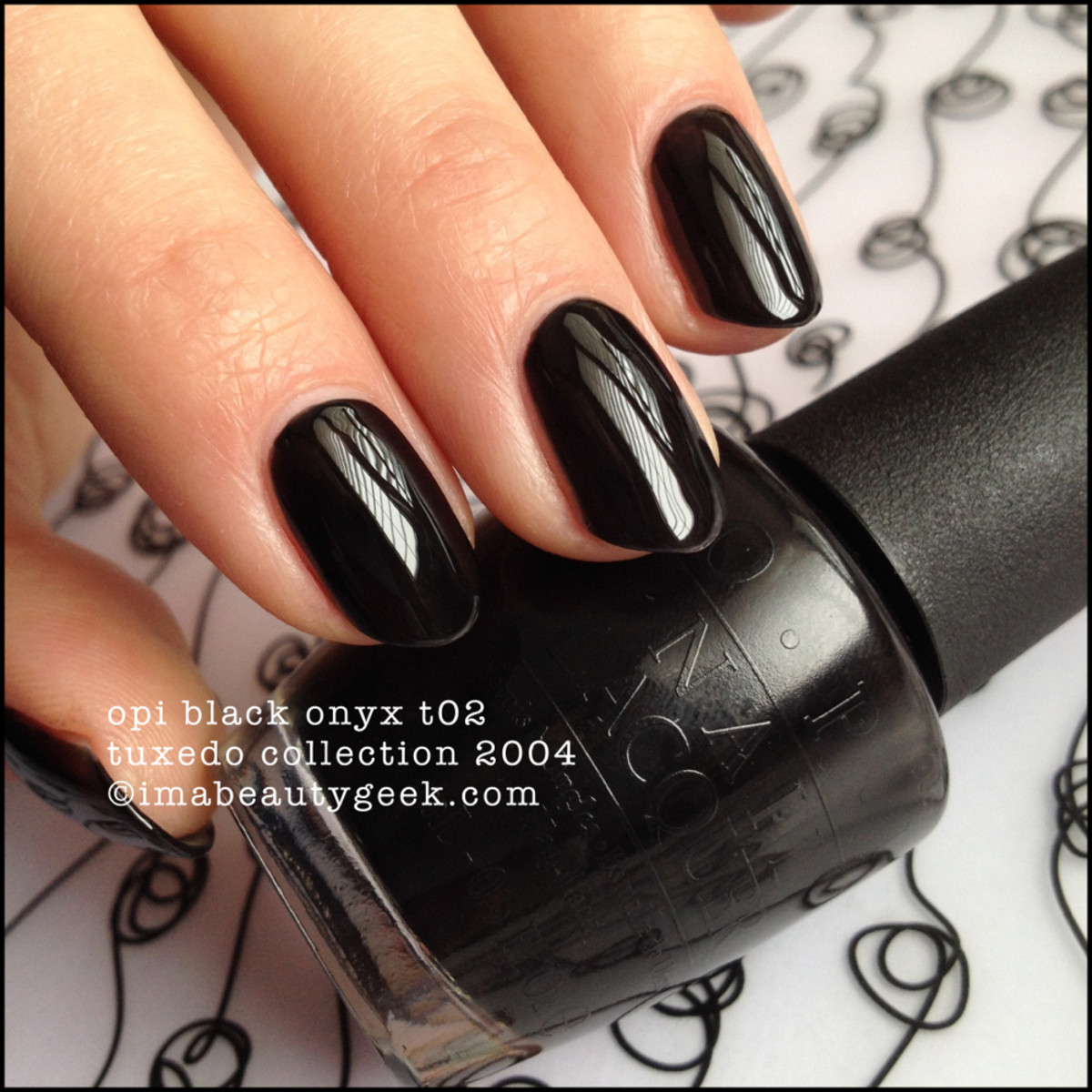 OPI Black Onyx NL T02 Tuxedo Collection 2004