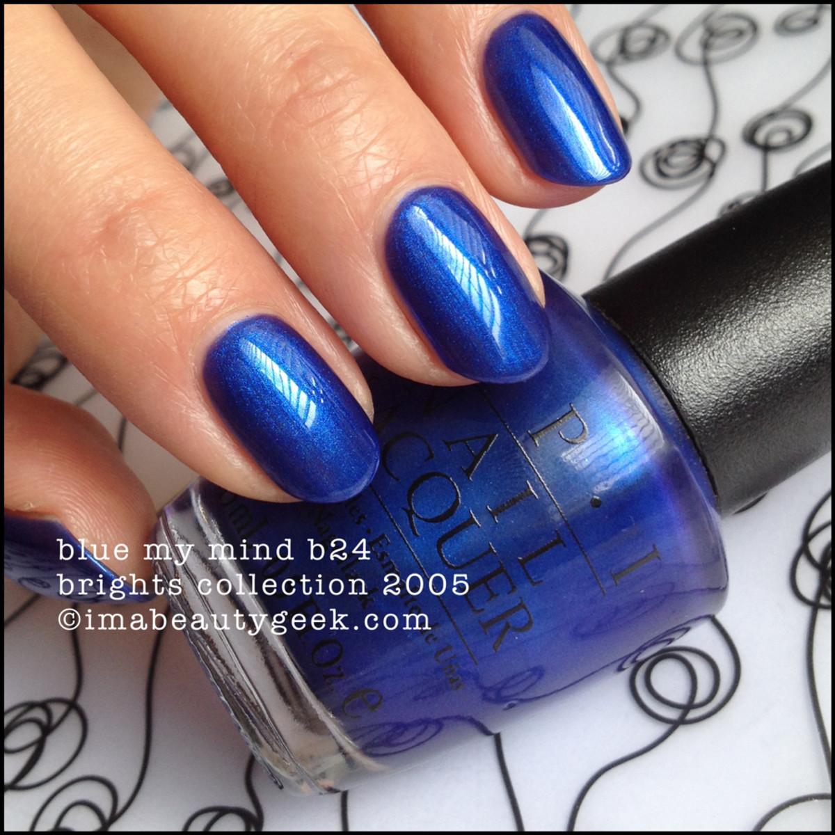OPI Blue My Mind NL B24 Brights 2005 Black Label