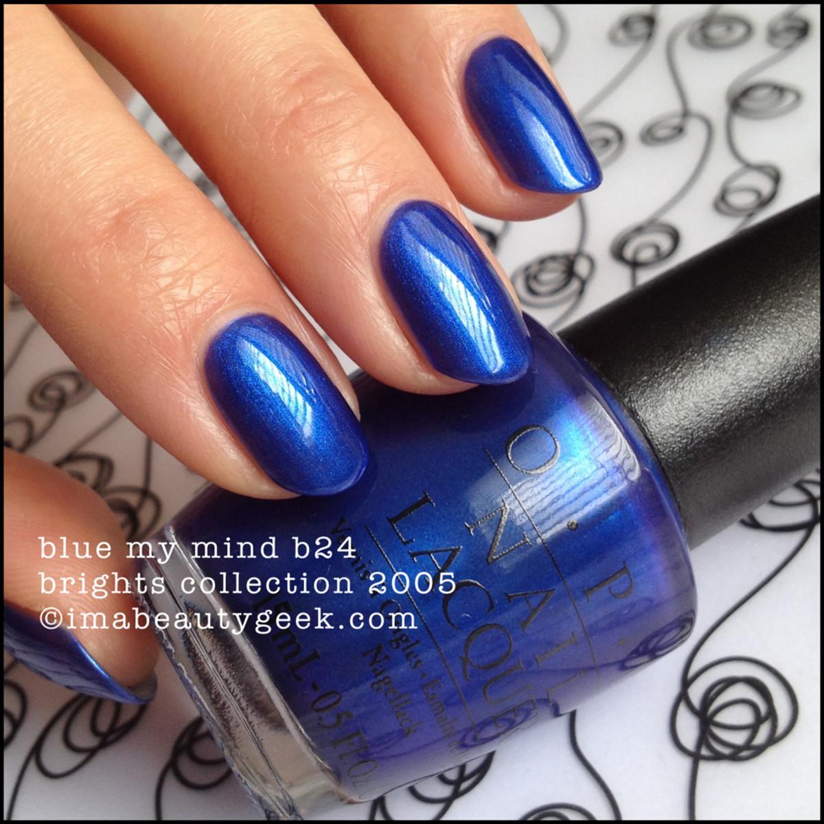 OPI Blue My Mind B24 Brights 2005 Black Label