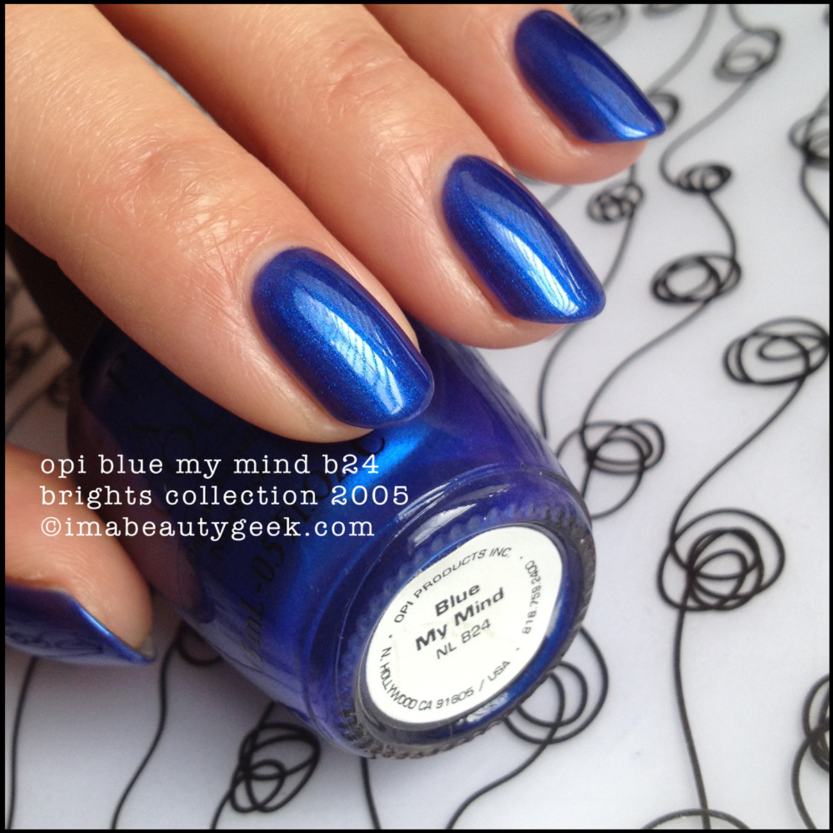 OPI Blue My Mind NL B24 Brights Collection 2005 Black Label