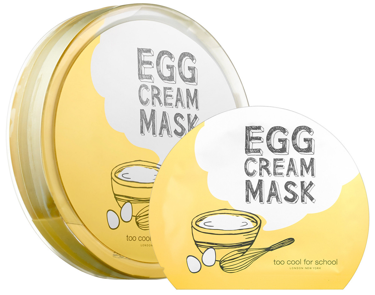 Fake a good night's sleep w skincare when you're in your 40s: Too Cool for School Egg Cream Sheet Mask