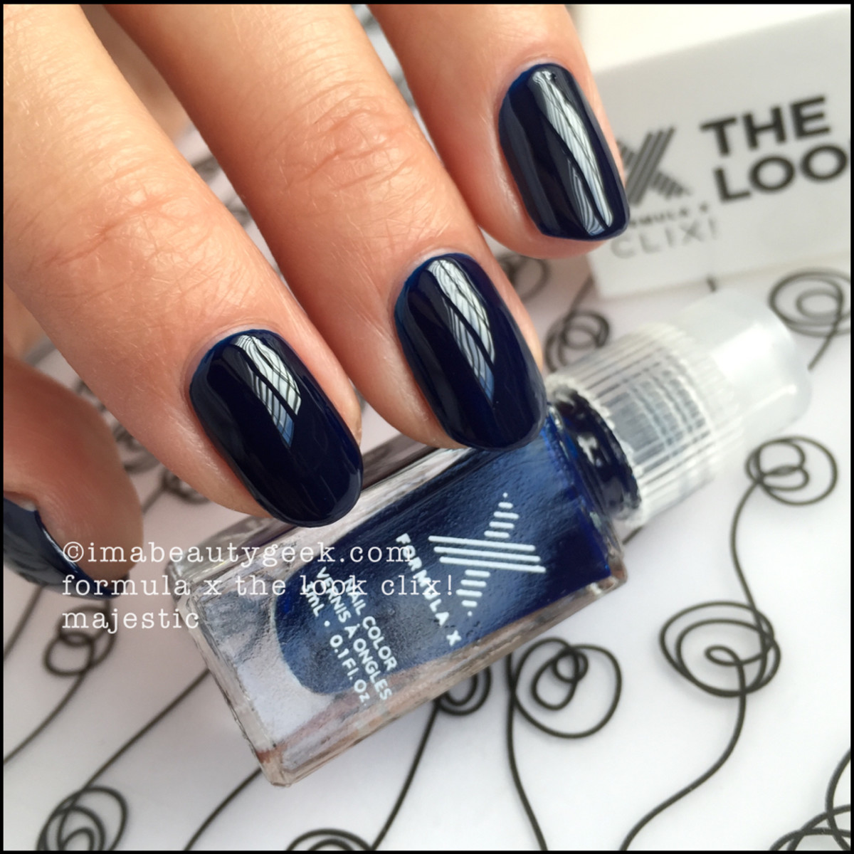 Formula X Clix 2015 Majestic and Over The Moon The Look Nail