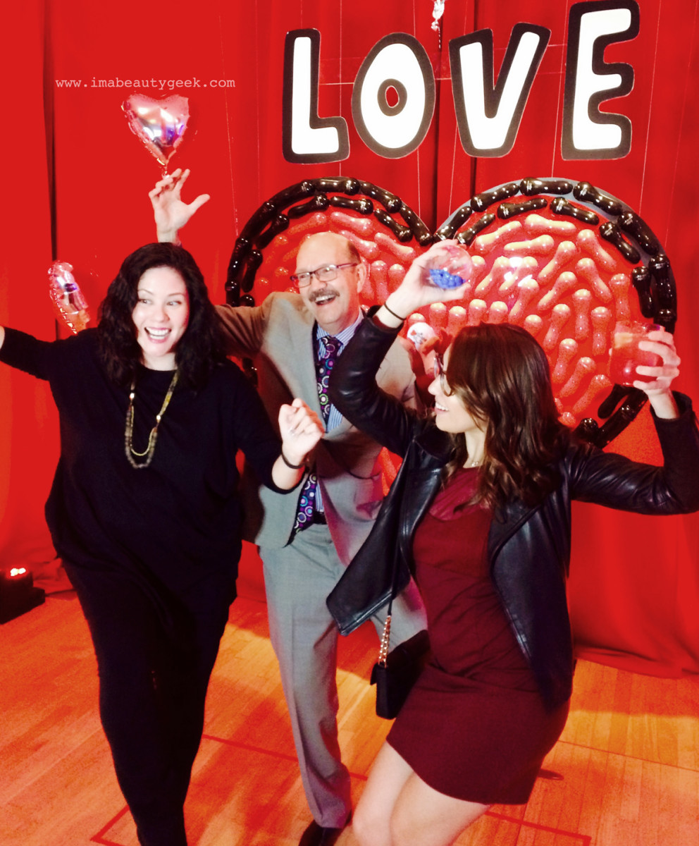 DANCE: That's Clarisonic co-founder Dr. Robb Akridge in the middle, and Beautezine's Jessica Jardin on the right. We were determined to get Dr. Robb to dance at the NYC launch event for the collection, and look! We did it!